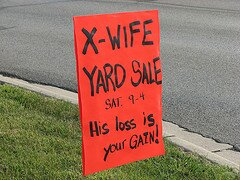 X-Wife Yard Sale Sign by eraut