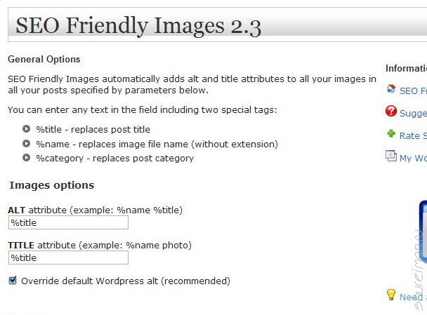 Сео-плагин для изображений SEO friendly images plugin